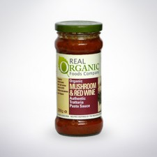 Real Organic Mushroom and Red Wine Pasta Sauce