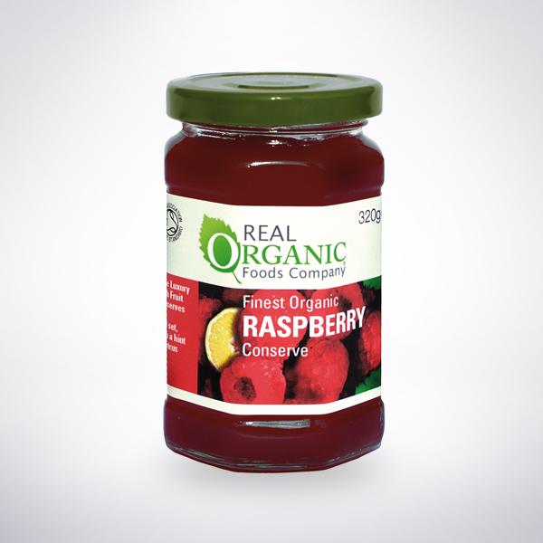 Real Organic Raspberry Conserve