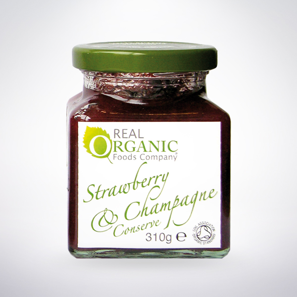 Real Organic Strawberry and Champagne Gourmet Conserve