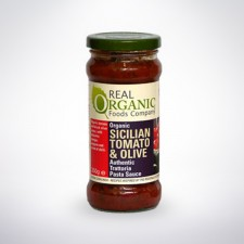 Real Organic Sciilian Tomato and Olive Pasta Sauce