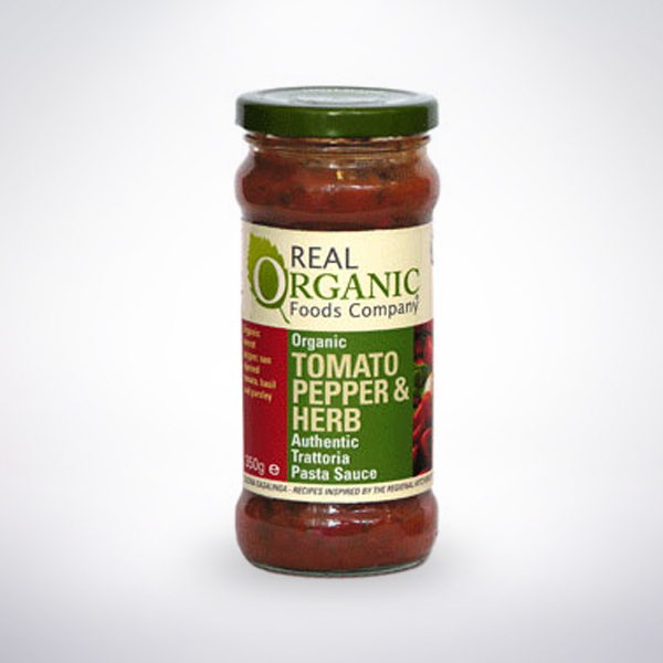 Real Organic Tomato, Pepper and Herb Pasta Sauce