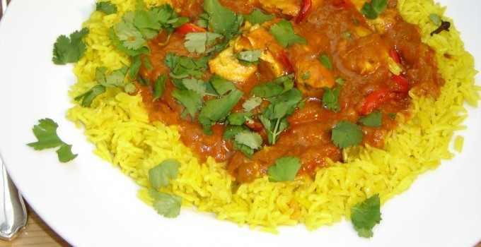 Chicken Jalfrezi with Mango Chutney