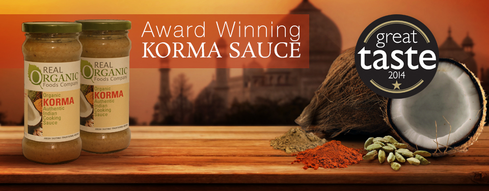 Award Winning Real Organic Korma Sauce